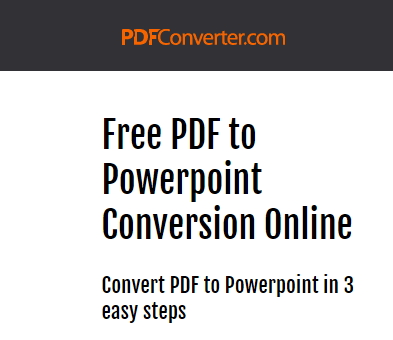 PDF to PowerPoint Converter - PDF Converter