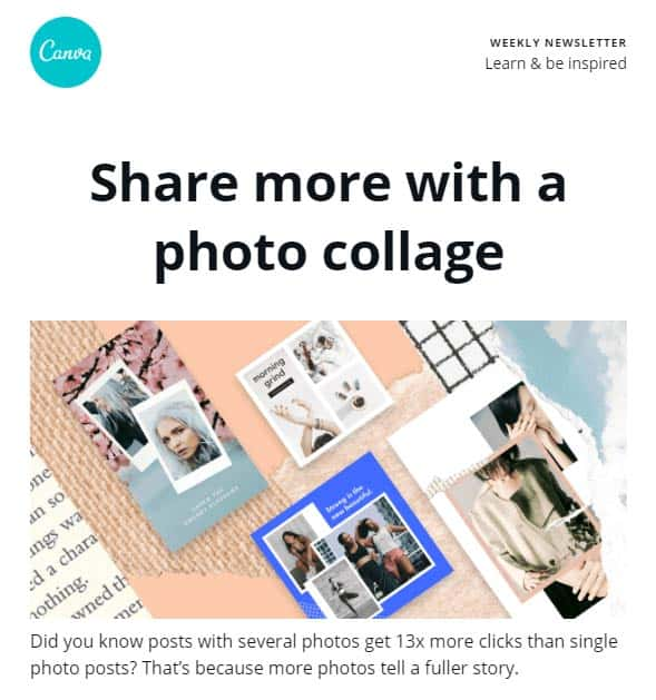 Share more with a photo collage
